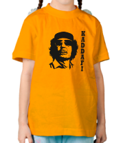 Детская футболка  Муаммар Каддафи - KADDAFI