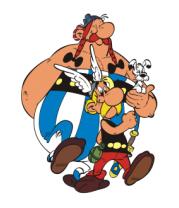 Мужская футболка с длинным рукавом Астерикс и Обеликс
