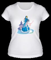 Женская футболка  Snegurka