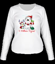 Женская футболка с длинным рукавом С Новым Годом
