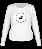 Женская футболка с длинным рукавом Близнецы