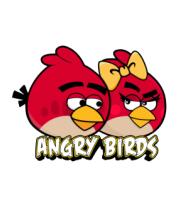 Женская футболка  Angry Birds