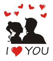 Кружка I love you