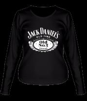Женская футболка с длинным рукавом Jack Daniels