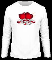 Мужская футболка с длинным рукавом Heart