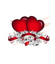 Женская майка борцовка Heart