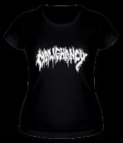 Женская футболка  Malignancy