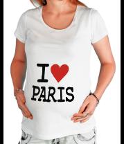 Футболка для беременных I love Paris