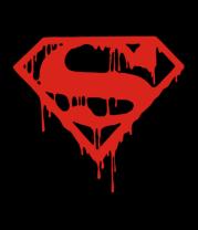 Женская футболка с длинным рукавом Кровавый супермен