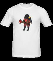 Мужская футболка  Pyro comics - TF2
