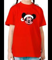 Детская футболка  Merry Cristmas. Микки Маус