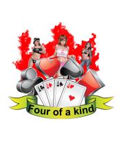 Женская майка борцовка Four of a kind
