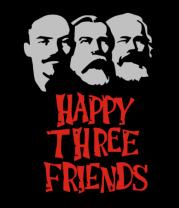 Шапка Happy Three Friends - Ленин Маркс и Энгельс