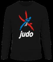 Мужская футболка с длинным рукавом Эмблема Дзюдо