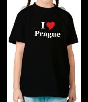 Детская футболка  I Love Prague