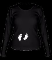 Женская футболка с длинным рукавом Любимые пяточки