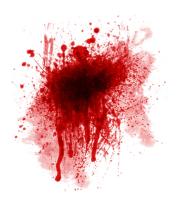 Мужская майка Кровавое пятно