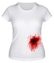 Женская футболка  Кровавое пятно
