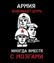 Женская футболка  Армия выбивает дурь. Иногда вместе с мозгами