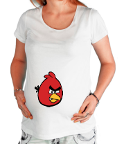 Футболка для беременных Красная птица Angry bird