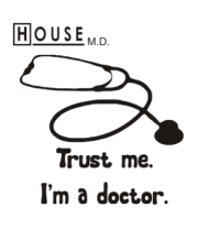Шапка House. Trust me I am a doctor