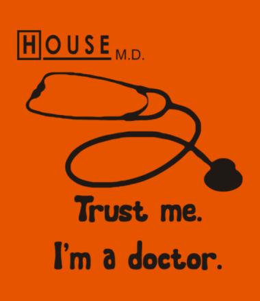 Мужская футболка  House. Trust me I am a doctor