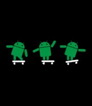 Толстовка Android на скейте