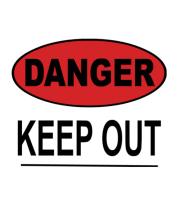 Толстовка Danger. Keep out