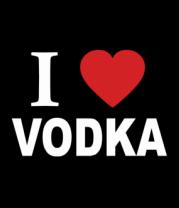 Футболка поло мужская I love vodka