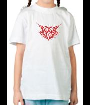 Детская футболка  Трайбл Сердце