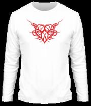 Мужская футболка с длинным рукавом Трайбл Сердце