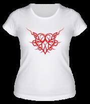 Женская футболка  Трайбл Сердце