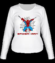 Женская футболка с длинным рукавом Spiderman