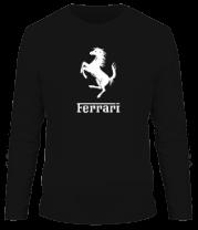 Мужская футболка с длинным рукавом Ferrari (феррари)
