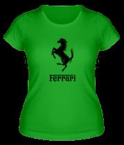 Женская футболка  Ferrari (феррари)