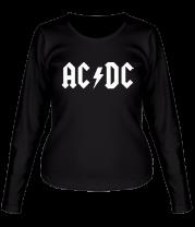Женская футболка с длинным рукавом AC DC
