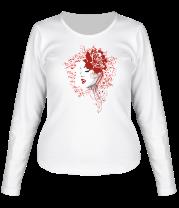 Женская футболка с длинным рукавом Rose red