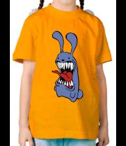 Детская футболка  Злой заяц
