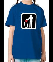 Детская футболка  Любовь в урну