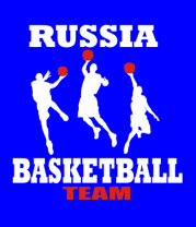 Мужская футболка с длинным рукавом Русский баскетбол