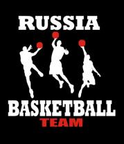 Женская майка борцовка Русский баскетбол