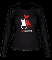 Женская футболка с длинным рукавом In love