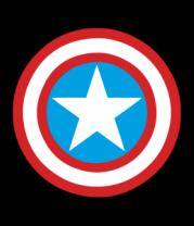 Мужская футболка с длинным рукавом Щит Капитана Америка