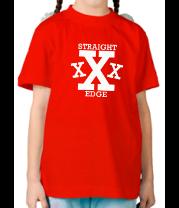 Детская футболка  Straight edge