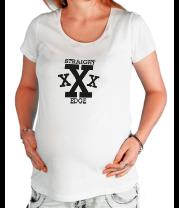 Футболка для беременных Straight edge