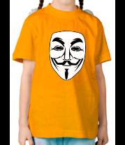 Детская футболка  Вендетта маск