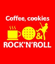 Детская футболка  Coffee, cookies, ROCK'N'ROLL