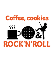 Футболка для беременных Coffee, cookies, ROCK'N'ROLL