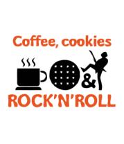 Женская футболка с длинным рукавом Coffee, cookies, ROCK'N'ROLL