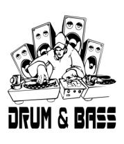 Женская майка борцовка Drum & Bass
